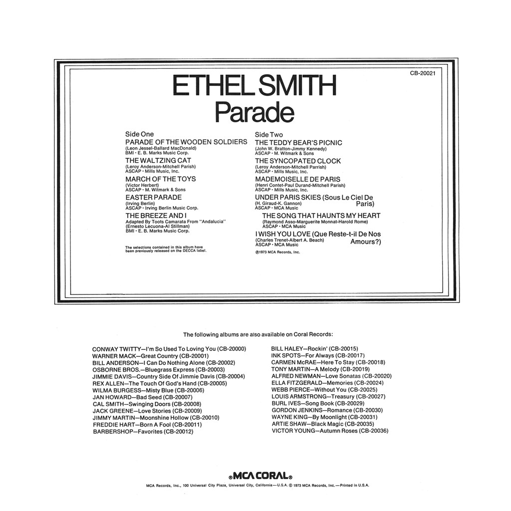 Ethel Smith - Parade b