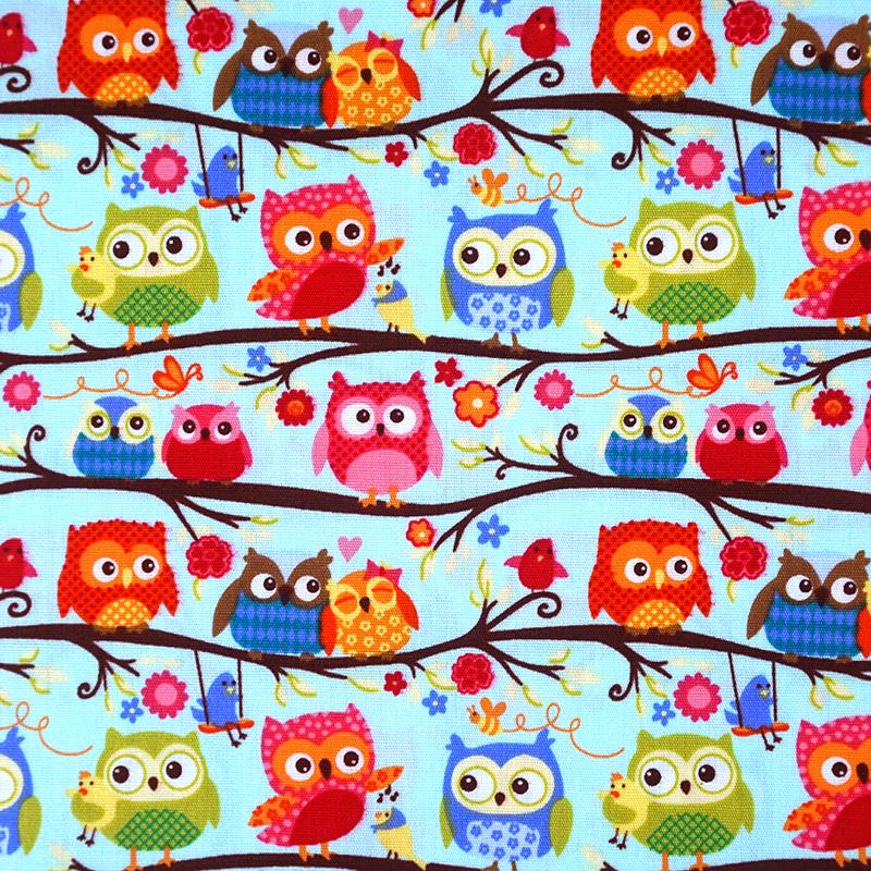 猫头鹰树上唱歌 (大特价) 可爱动物 音乐 手工艺diy拼布布料 ca450660
