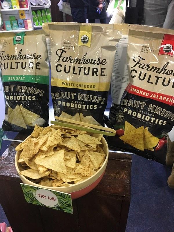 Sauerkraut crisps