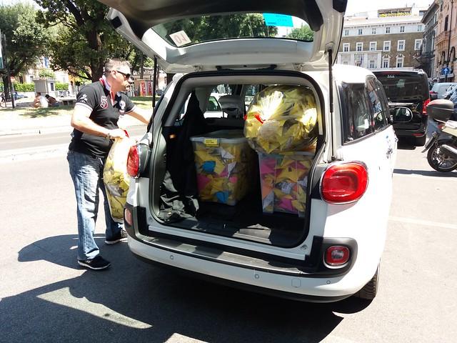 Consegna origami al Ministero degli Affari Esteri e della Cooperazione internazionale