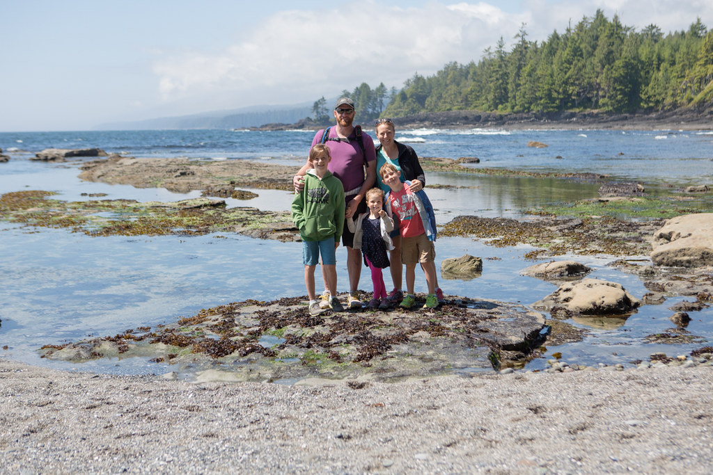 Family photo at Botanical Beach