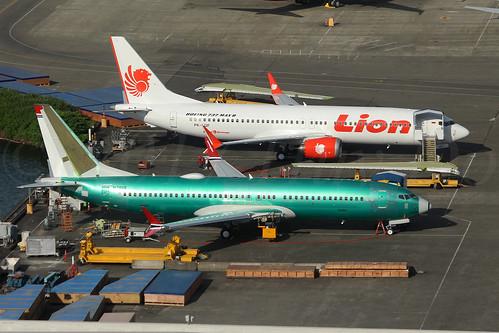 Boeing 737 MAX 8 Lion Air PK-LQF LN6344 & Boeing 737 MAX 8 Norwegian Air International EI-FYF LN6430
