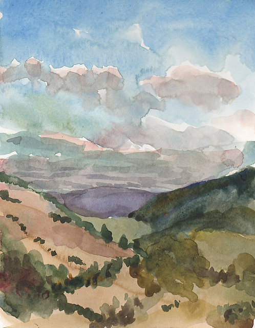Watercolor study, Monte Bello Open Space Preserve