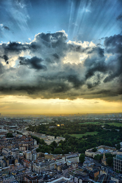 The Establishing Shot: FEAR THE WALKING DEAD LAUNCH –  HDR VIEW LOOKING NORTH WEST OVER THE REGENT'S PARK FROM TOP OF BT TOWER