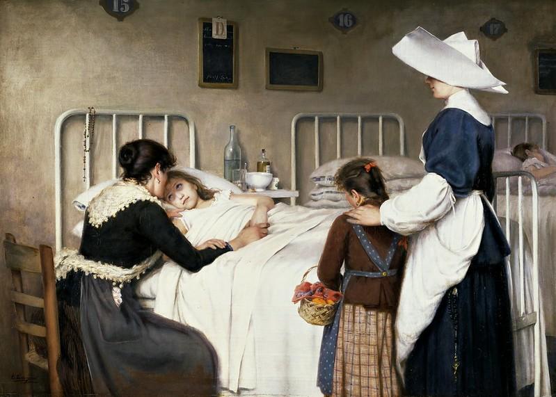 Enrique Paternina García Cid - La visita de la madre al hospital (1892)