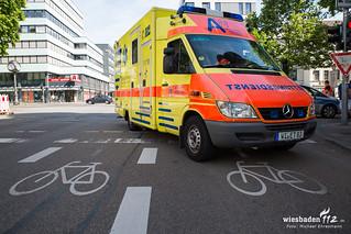 Radfahrerin überrollt Rheinstraße 11.06.17