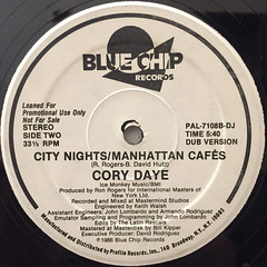 CORY DAYE:CITY NIGHTS:MANHATTAN CAFES(LABEL SIDE-B)