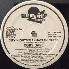 CORY DAYE:CITY NIGHTS:MANHATTAN CAFES(LABEL SIDE-B)