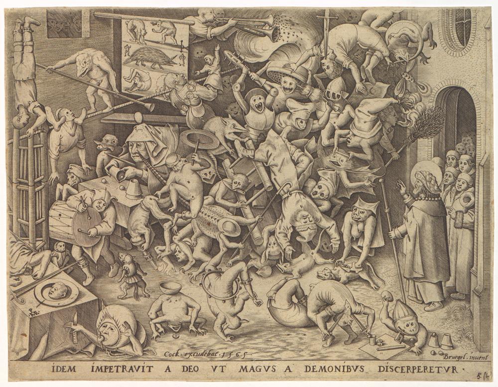 ピーテル・ブリューゲル(父)《魔術師ヘルモゲネスの転落》(1565年、いずれもプランタン=モレトゥス博物館)