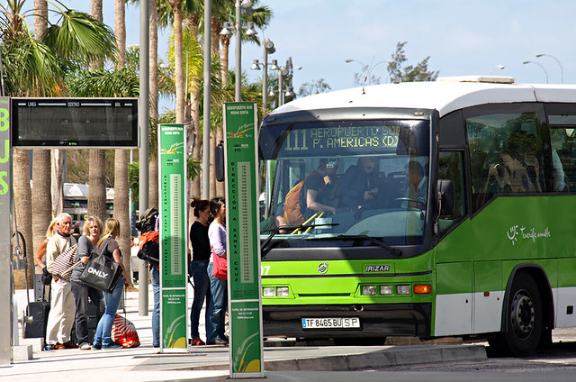 Public bus, Tenerife South Airport, Tenerife