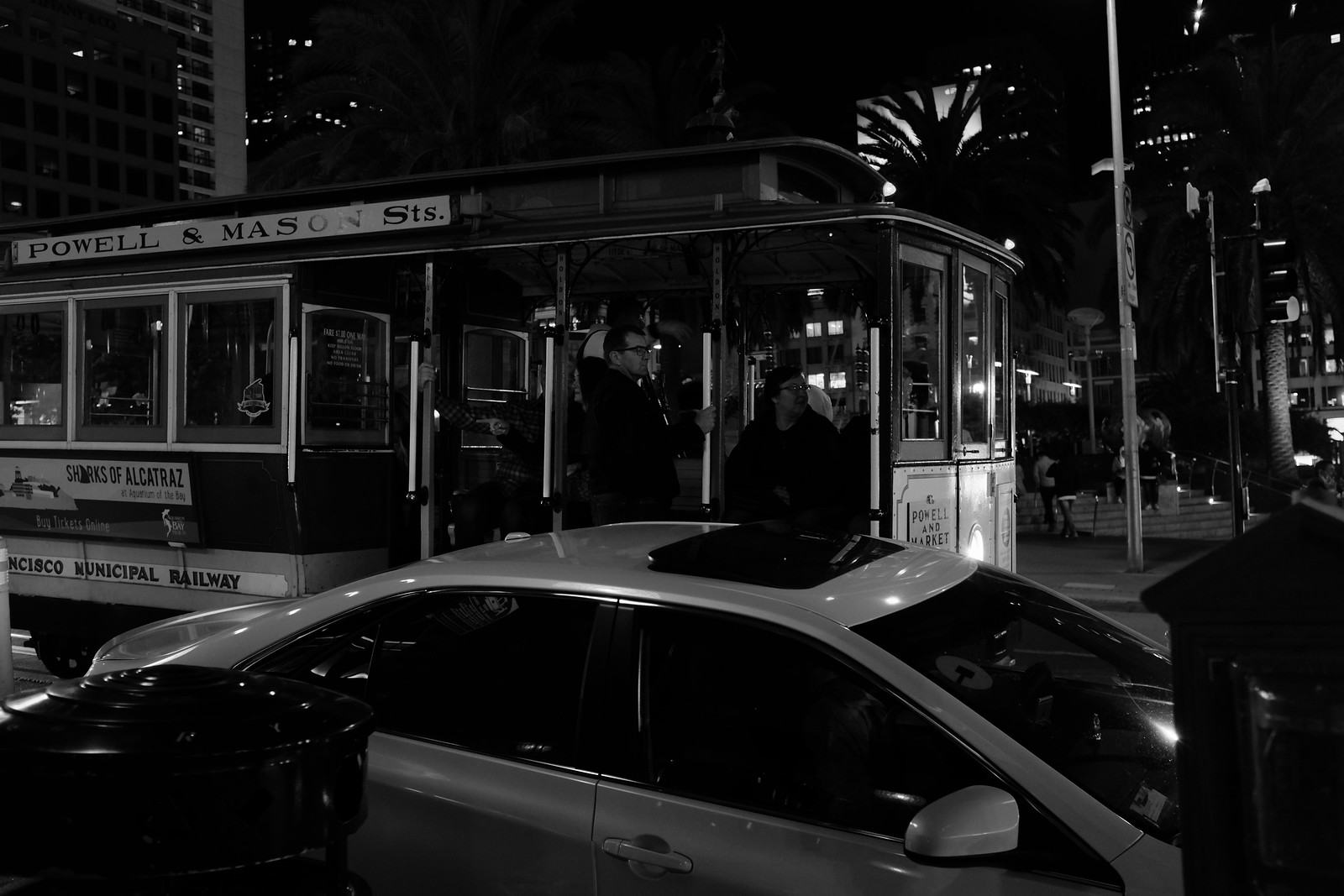 The Sanfrancisco night photo by FUJIFILM X100S.