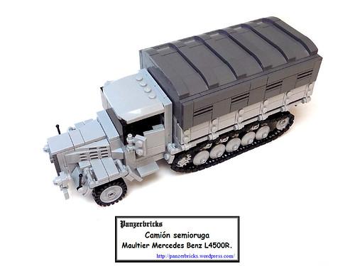 Maultier Mercedes Benz L4500R SdKfz 3/5 de Panzerbricks