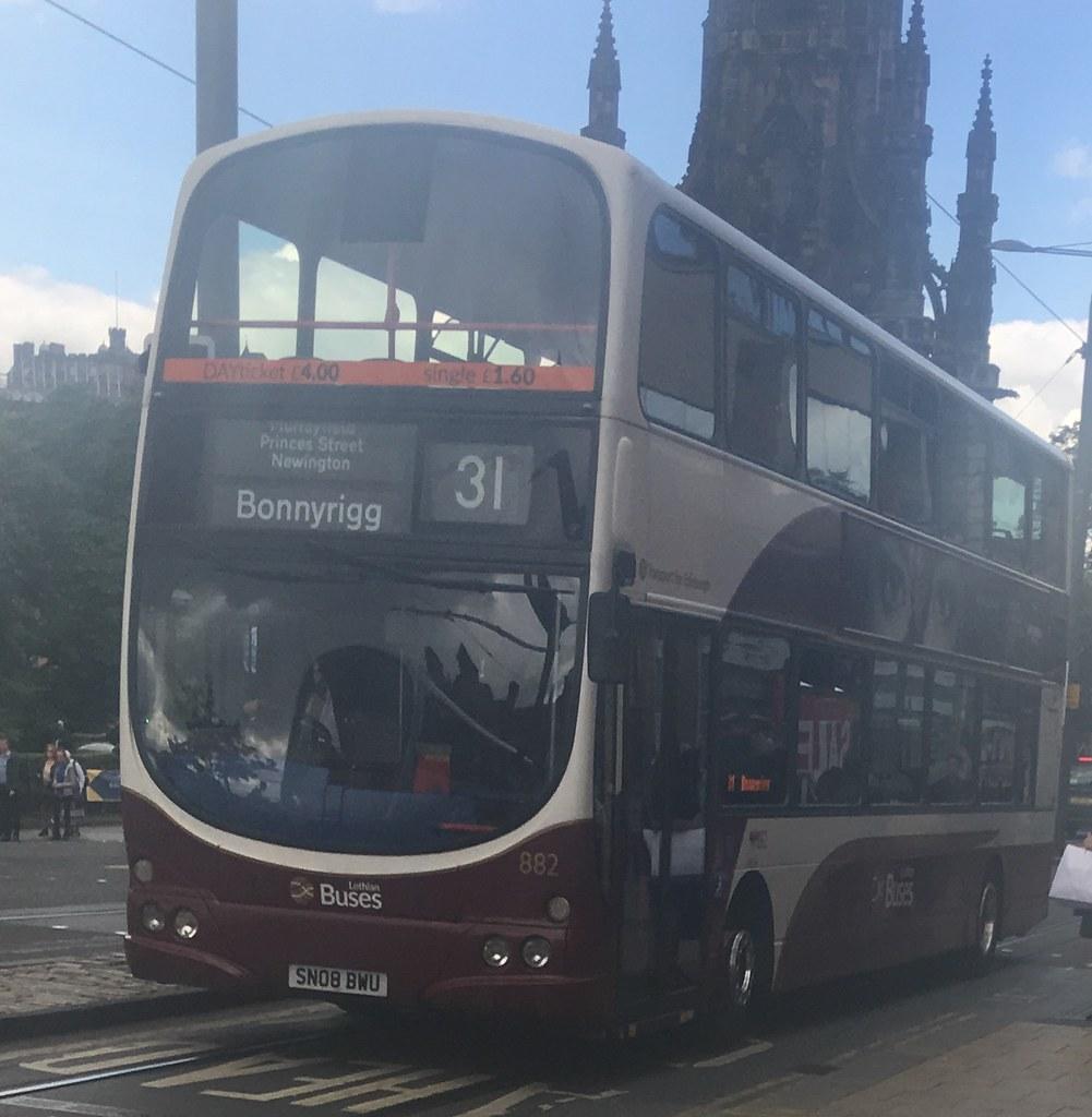 ... Lothian Buses 882 SN08 BWU (26.06.2017) | by CYule Buses