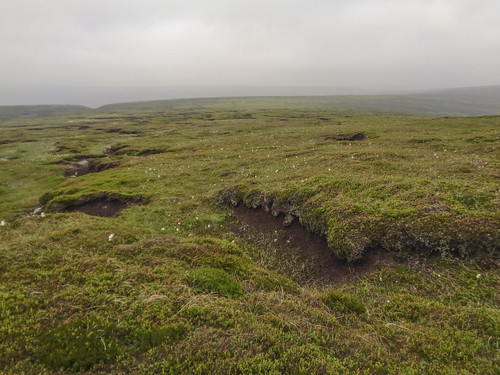 Rougher terrain to Howden Edge