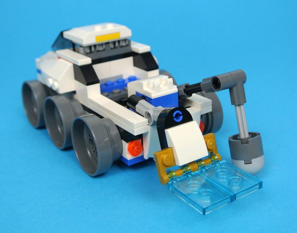 LEGO 2 New Landing Gear Light Bluish Gray Holder Trans-Clear Wheel Black Tire