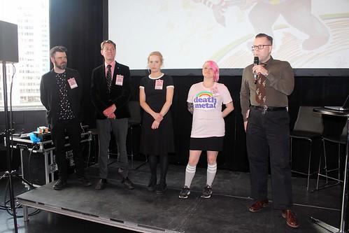 Ola Hellsten, Patrick Linderoth, Elin Jansson, Linda Gustafsson och Anders Lundgren.
