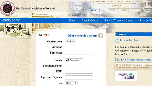 Search Irish Census Free
