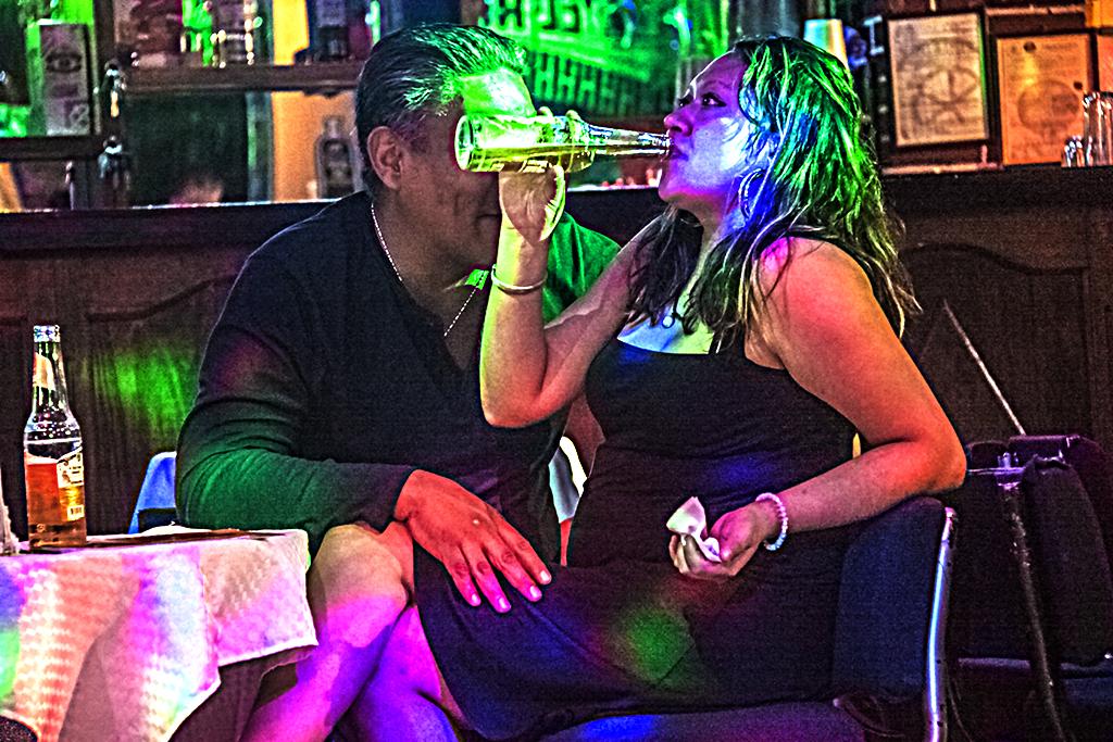 Couple in nightclub off Garibaldi Square--Mexico City 3