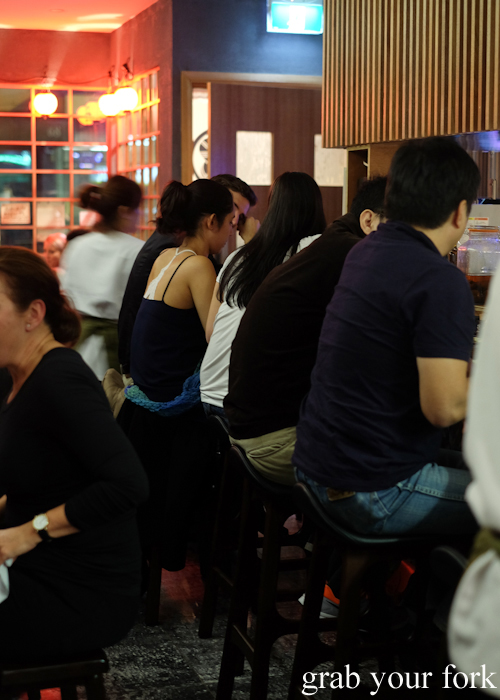 Dining room inside Yakitori Jin in Haberfield Sydney