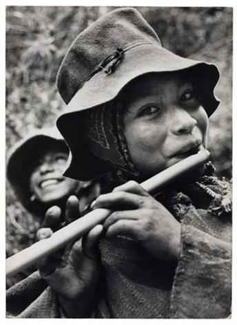 "Mítica fotografía de Eugene V. Harris: ""Peruvian boy with flute"" (1954)"