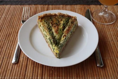 Grüner Spargel Quiche (Rest als kaltes Mittagessen in kurzer Mittagspause daheim)