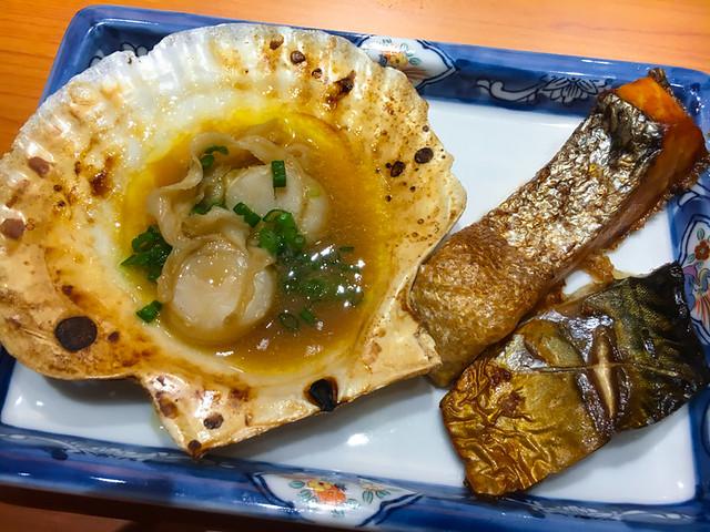 TOUAN Yakitori & Robata - ROBATAYAKI - Grilled Scallop Butter with Soy Sauce, Grilled Sanma Fish, Grilled Saba Mackerel