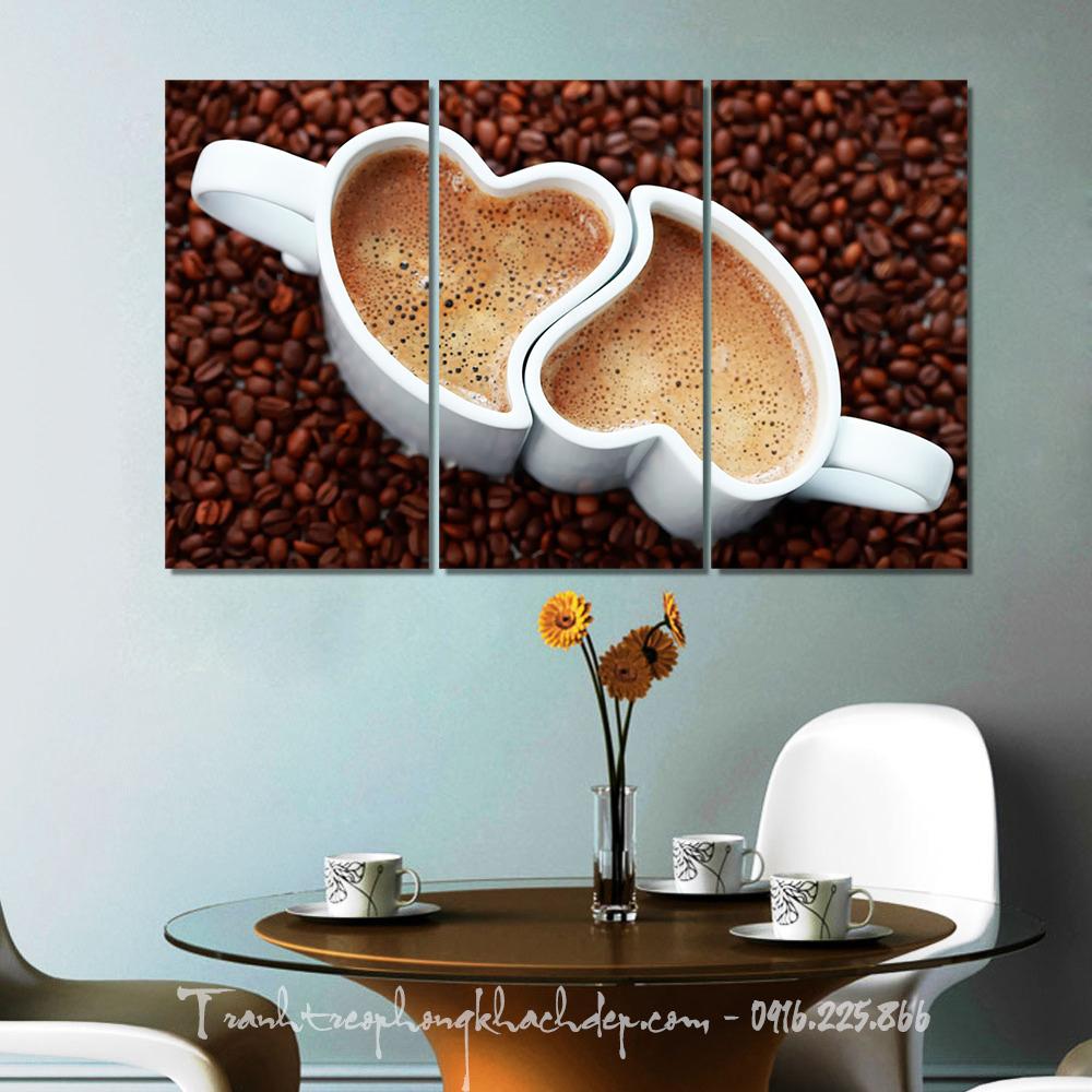Mau tranh tach cafe tinh yeu hop treo quan cafe
