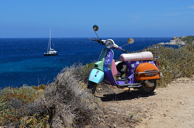 Slow travel,scooter, Corsica