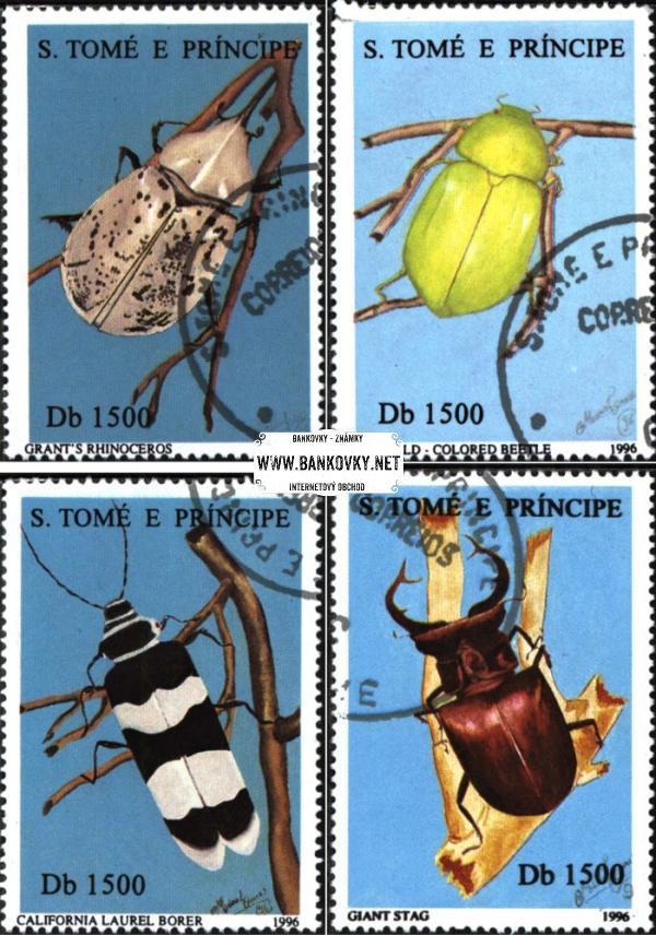 Známky Svätý Tomáš 1996 Chrobáky, razítkovaná séria