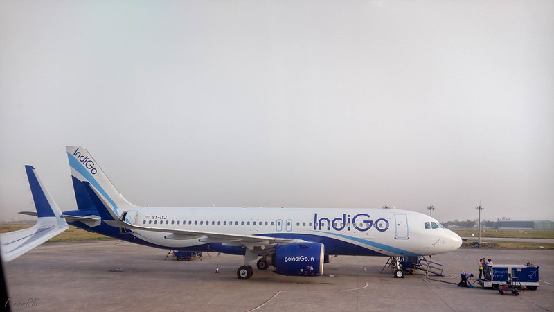 Indigo A320N (VT-ITJ) at VIDP apron between RW27 & RW28