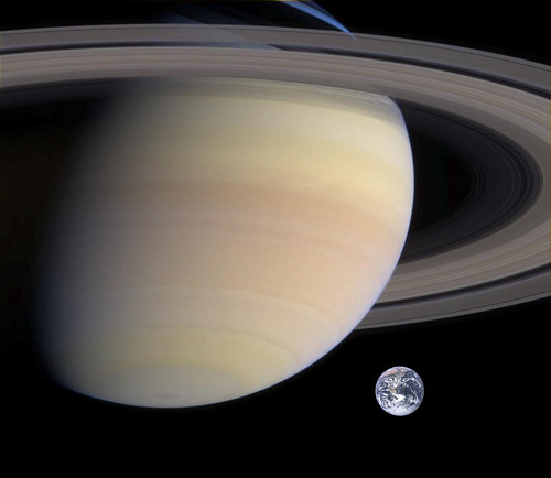 Saturn Earth size comparison | by MaraJade2015