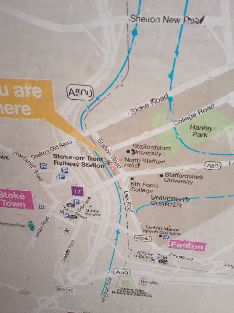Stoke-on-Trent駅周辺地図