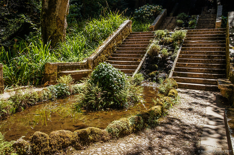 Escalinata de la Fonte Fria en Buçaco