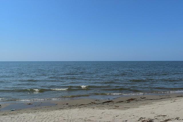 紫雲寺記念公園からの海