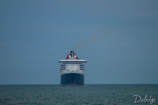 Le Queen Mary 2 à Cherbourg en cotentin