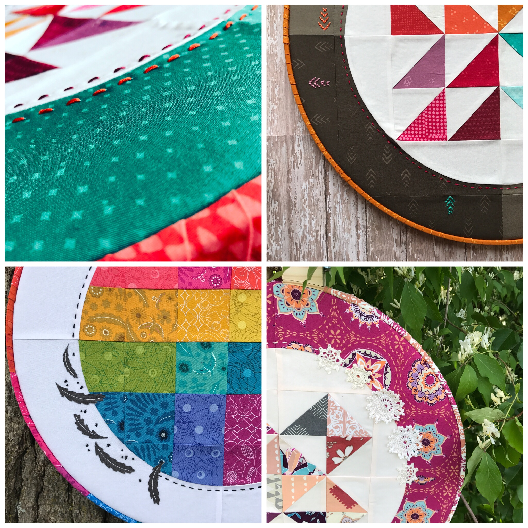 Hoop Quilt Embellishment Collage