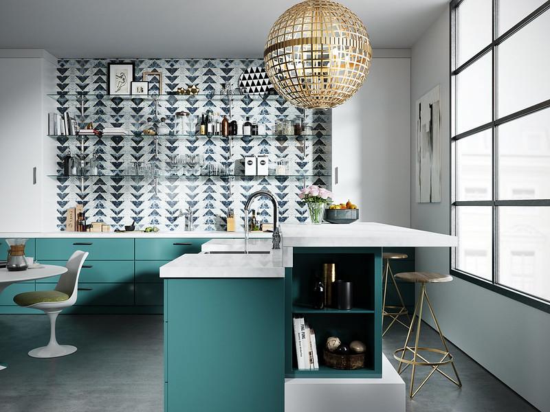 Modern Green kitchen Cam 1