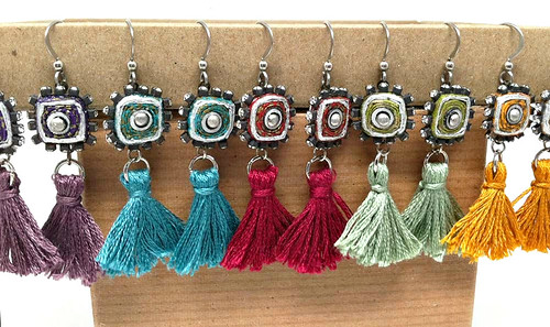 Quilled Tassel Earrings by Coco Delay