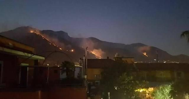 incendio monte Saro