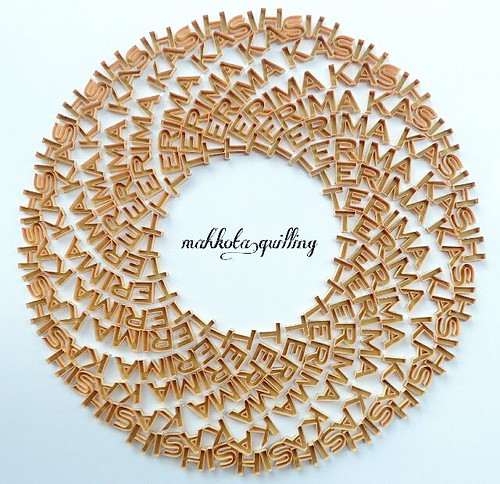 Quilled Thank You (Terima Kasish) by Mahkota Quilling