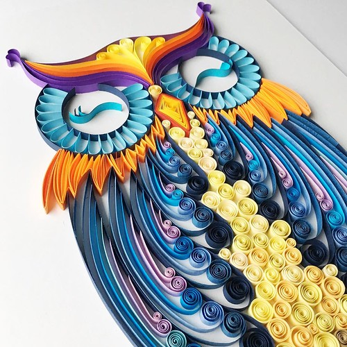Quilled Owl by Iwona Wright