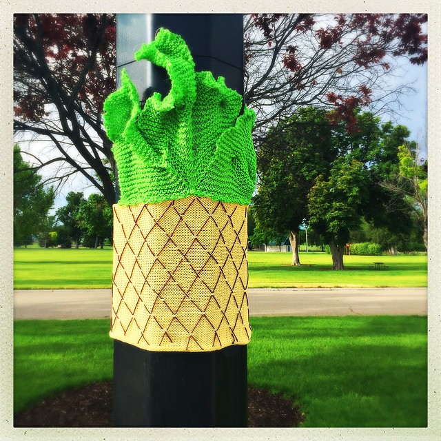 Pineapple Yarn Bomb
