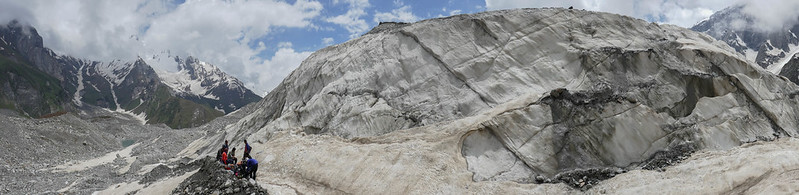 Panorama - Ice training wall in Beas Kund glacier (12,000')