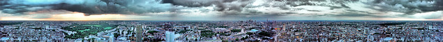 The Establishing Shot: FEAR THE WALKING DEAD LAUNCH – HDR PANORAMIC > 360 DEGREE VIEW OF SUNSET FROM TOP OF BT TOWER