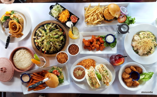 Lone Star Texas Grill flat lay photoshoot