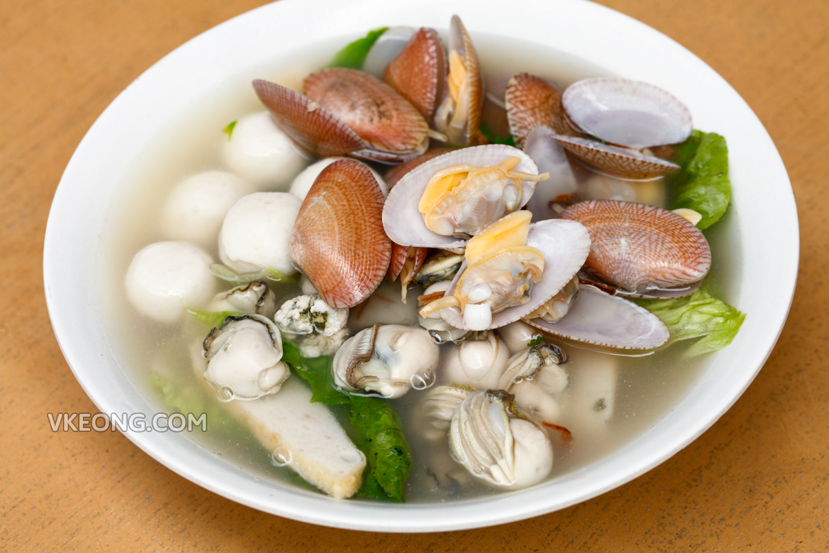 Teochew Seafood Noodle with Lala Oyster