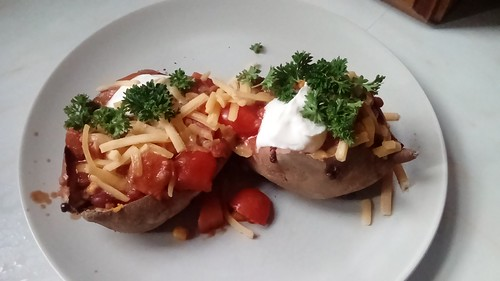 Baked Sweet Potatoes with Chilli