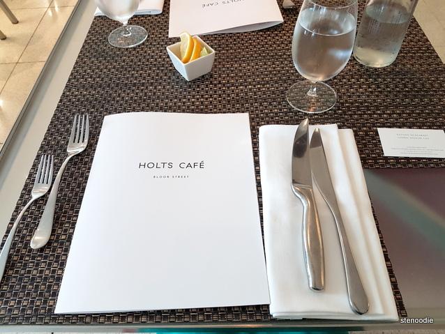 Holt's Café table