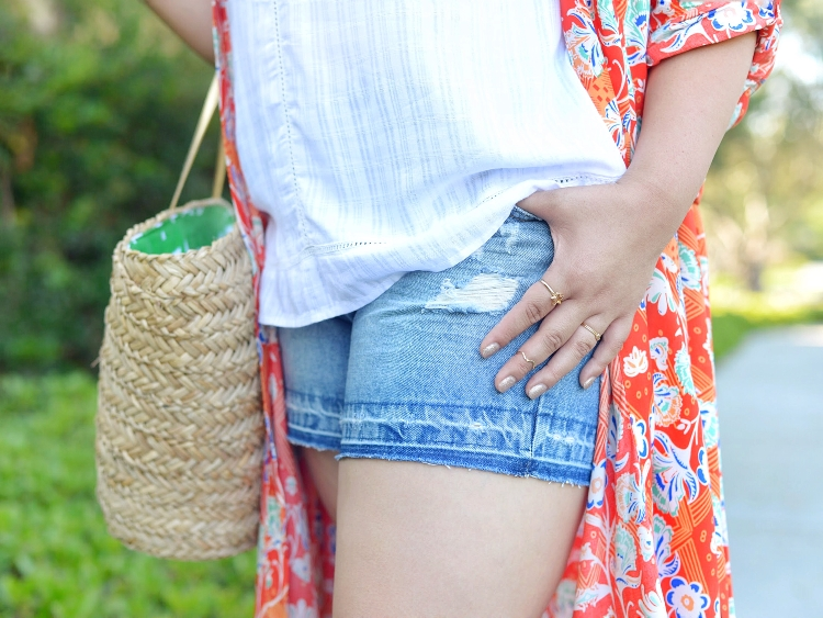 Curvy Girl Chic Simply Be Plus Size Summer Outfit Denim Shorts Kimono