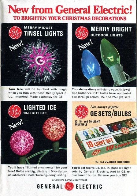 Ge Christmas Lights.Ge Christmas Lights 1967 This Ad Appeared In The December